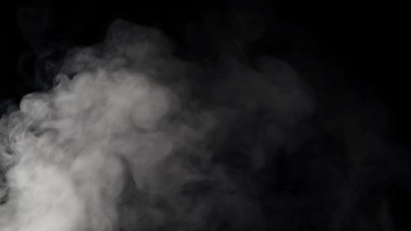Thumbnail for White smoke on black background