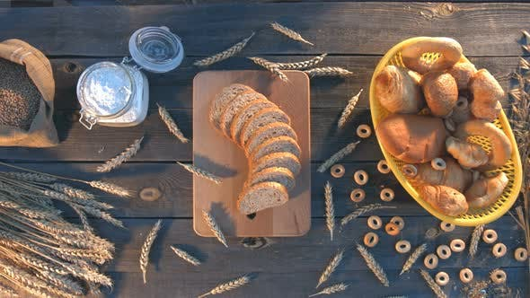 Thumbnail for Bakery, Wheat and Flour on Old Table