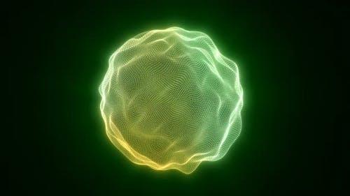 Ultramarine Particle Energy Sphere Pixel Art