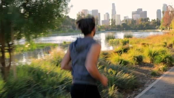 Thumbnail for Sportlicher Mann Joggen In Los Angeles