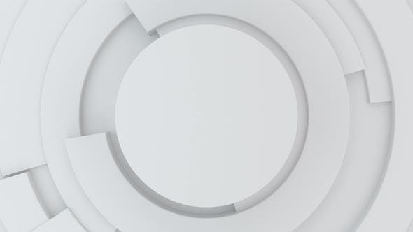 Thumbnail for Circle white Hi-tech background with rotating parts