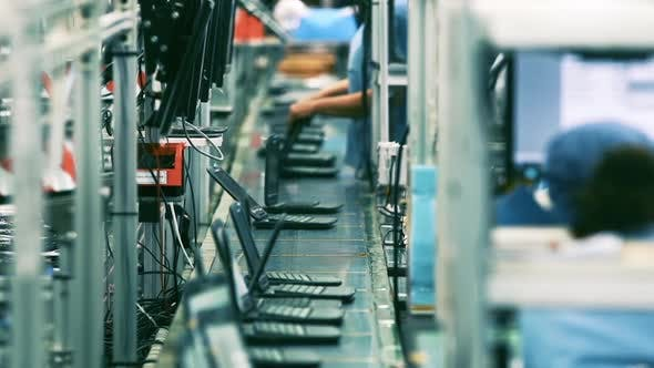Thumbnail for Computer Manufacturing. Laptop Computer Factory.