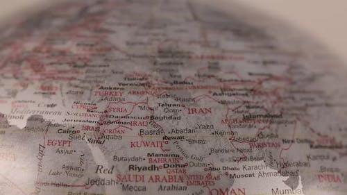The Sahara Desert on the Globe