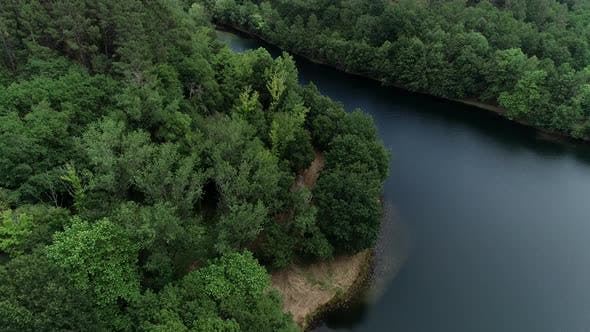 Thumbnail for Aerial View of Beautiful Forest and River