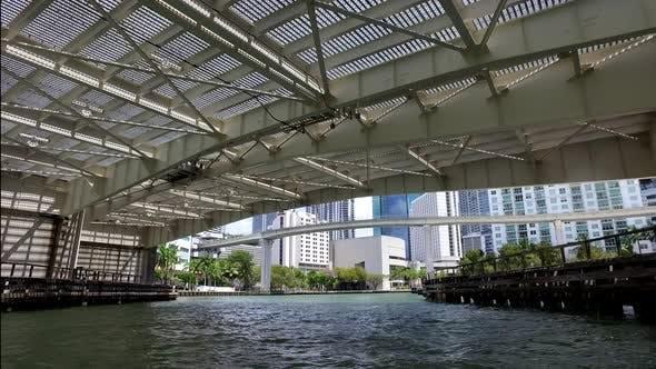 Thumbnail for Miami Florida Usa Yachting Into Downtown Miami River