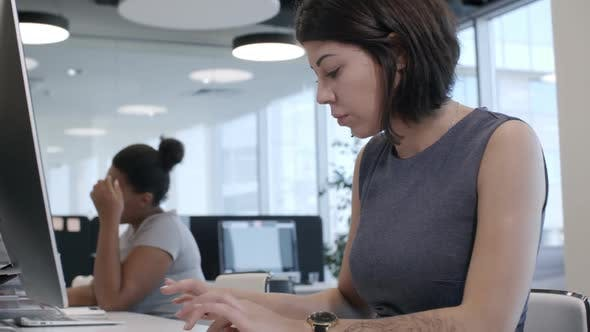 Cover Image for Businesswomen Working on Computers