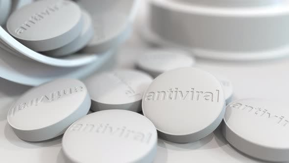 Thumbnail for Pills with Stamped ANTIVIRAL Text on Them