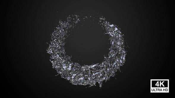 Pure Water Circle Splash 4K