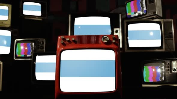 Thumbnail for Flag of Tucuman province, Argentina, and Retro TVs.