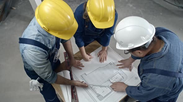 Thumbnail for Builders Discussing Floor Plan