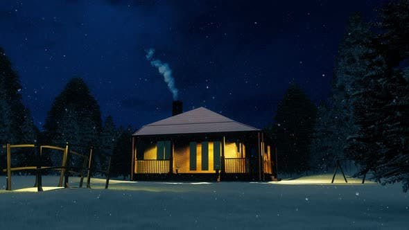 Thumbnail for House In Winter Forest