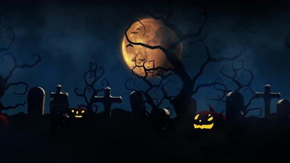 Halloween-Animation-Hintergrund 4K-H005
