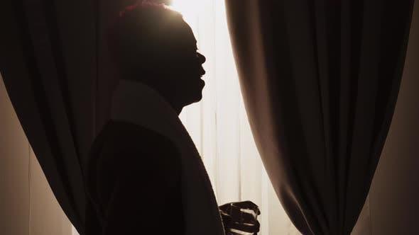 Good Morning Happy Black Man Healthy Lifestyle
