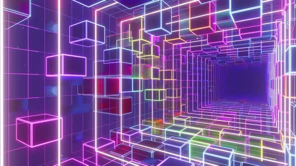 Cyber Electric Space In Cube Box 01 HD