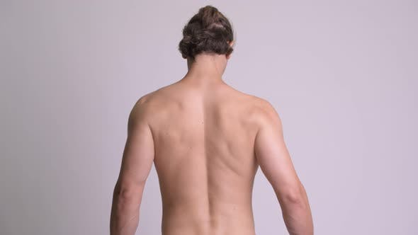 Thumbnail for Rear View of Muscular Shirtless Man Showing Back Muscles