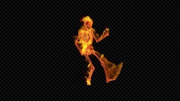 Thumbnail for Fiery Skeleton Rock Guitar Dance