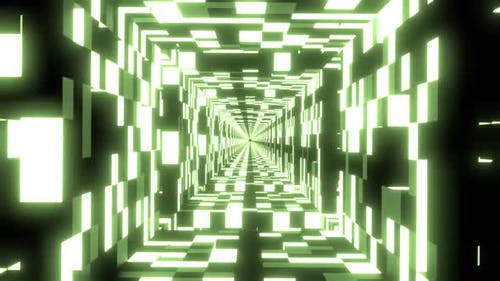 Infinity Abstract Loop of Seamless Animation with Different Shapes in Neon Lights