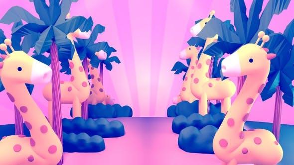 Thumbnail for Cartoon Giraffe Jungle
