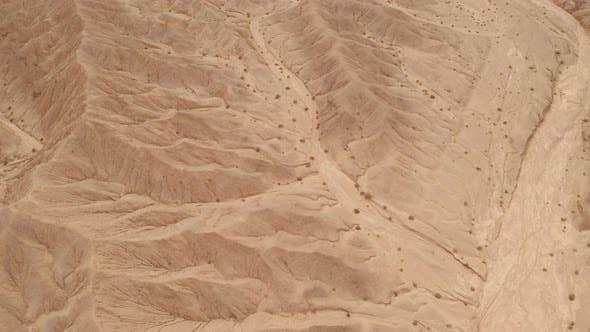 Dryness land with erosion terrain, geomorphology background