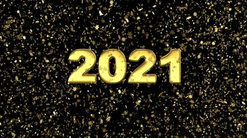 2021 New Year Looped Background