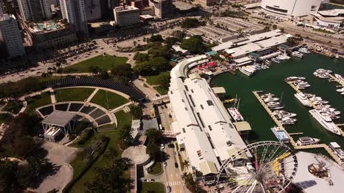 Aerial Video Miami Bayside Marketplace
