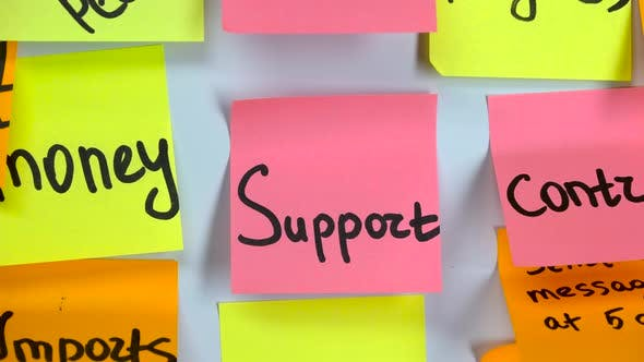Thumbnail for Sticker with the Word Support Stick on a White Board