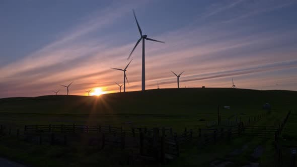 Thumbnail for Wind Farm in the Sunset