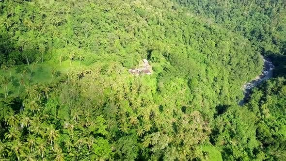 Thumbnail for Aerial Shot of Villa in Dense Rainforest