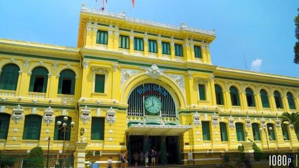 Central Post Office Saigon Hyperlapse in Ho Chi Minh City Vietnam