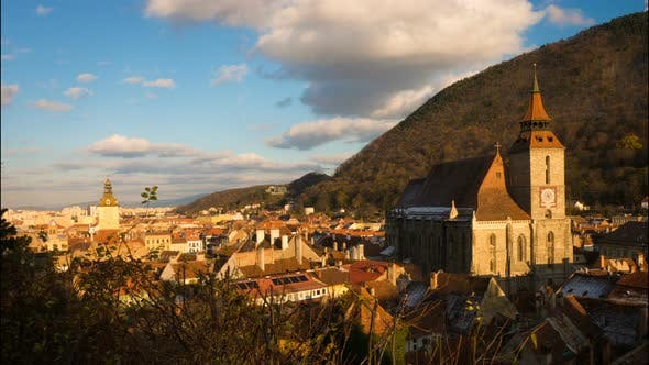 Thumbnail for View Of Romanian Medieval Town Brasov From The Viewpoint