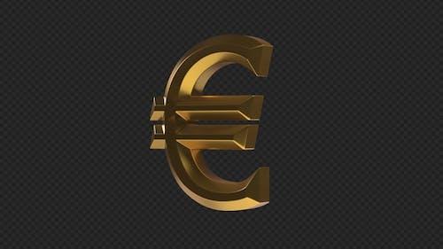 EUR Euro Rotating Sign