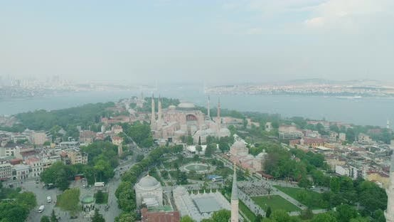 Thumbnail for Istanbul Historical Peninsula And Hagia Sophia Aerial View