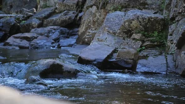 Thumbnail for Water Flowing Down Small Rapids With Many Rocks