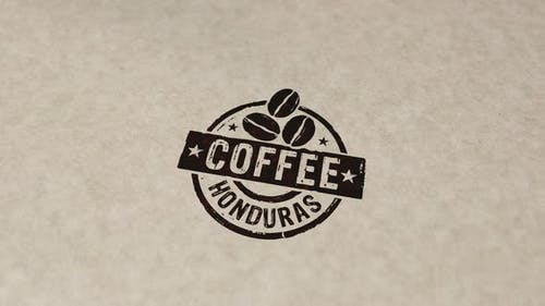 Coffee Honduras stamp and stamping