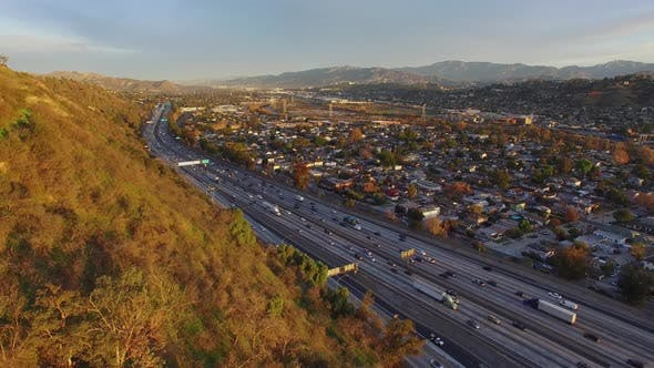 Thumbnail for Aerial Los Angeles Freeway