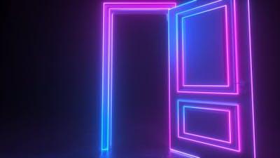 Abstract open door to universe