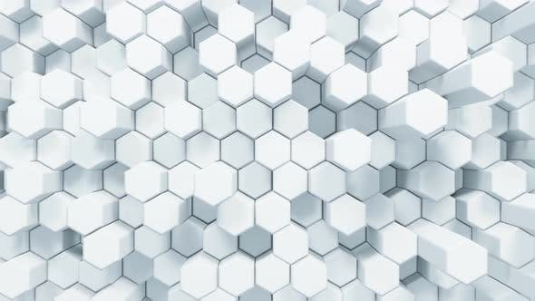 Thumbnail for Abstract White Hexagonal Waving Loop Background