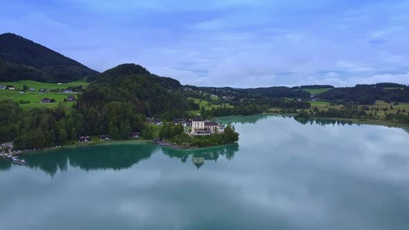 Amazing View of Lake Fuschl in Austria