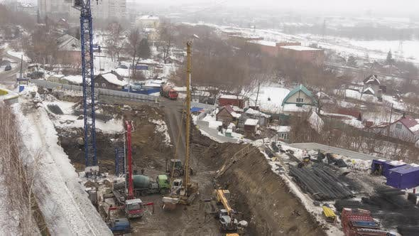 Top View of a Construction Site