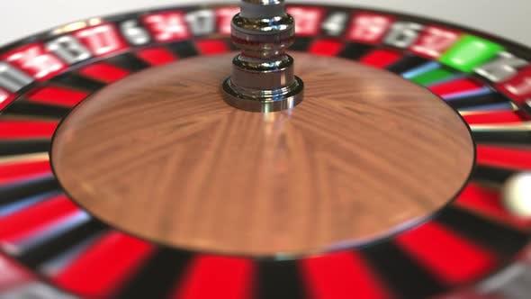 Thumbnail for Casino Roulette Wheel Ball Hits 29 Twenty-nine Black