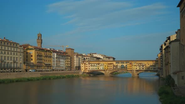 Ponte Vecchio Old Bridge in Florence, Firenze Tuscany