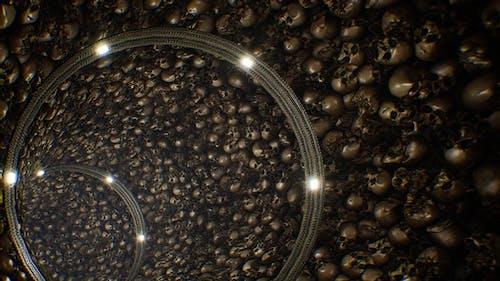 Horrible Catacombs Skull Tunnel Loop 4K