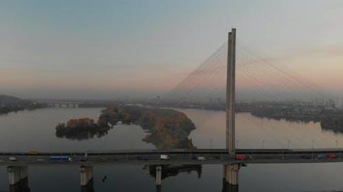 Circle View of the South Bridge in Kyiv