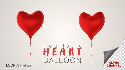 Heart Shape Red Balloons