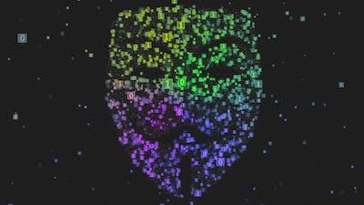 Hacker Avatar Matrix Particles 2