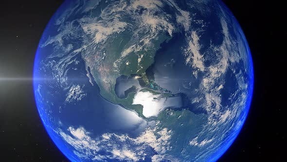 Thumbnail for Realistic Earth Zoom Out Clouds United States Of America Florida Miami