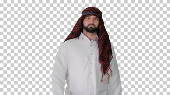 Thumbnail for Serious sheikh having a walk, Alpha Channel