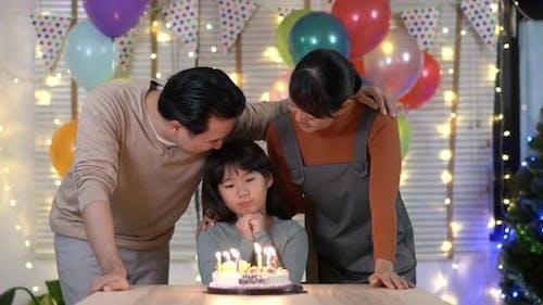 Family happy birthday party