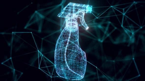Hologramm der Sprühflasche Nahaufnahme Hd