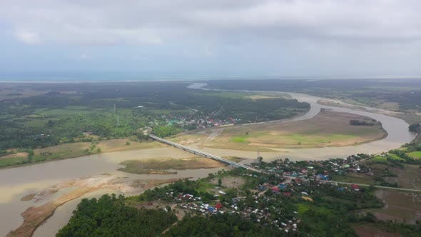 Thumbnail for River Town on Luzon Island, Philippines, Aerial View